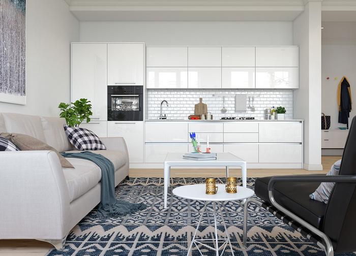 Scandinavian style apartment (7)