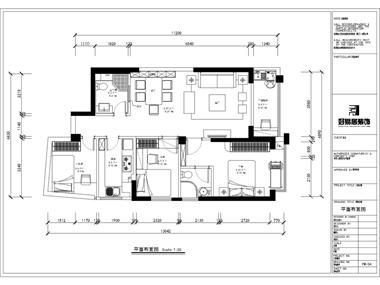 本案为两房两厅户型,原户型结构采光不是很理想。所以