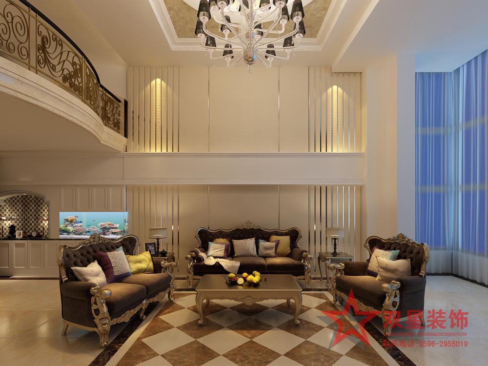 欧式客厅背景墙效果图图片