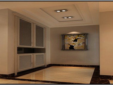 本方案根据业主要求以简欧风格进行设计,空间内电视背