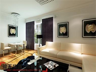 本案设计为现代风格,现代风格是比较流行的一种风格,