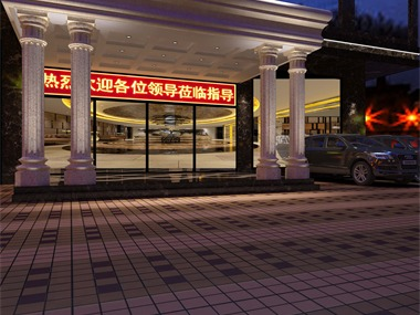 惠州的一个酒店,该原建筑层加上露台共8层,底下三层