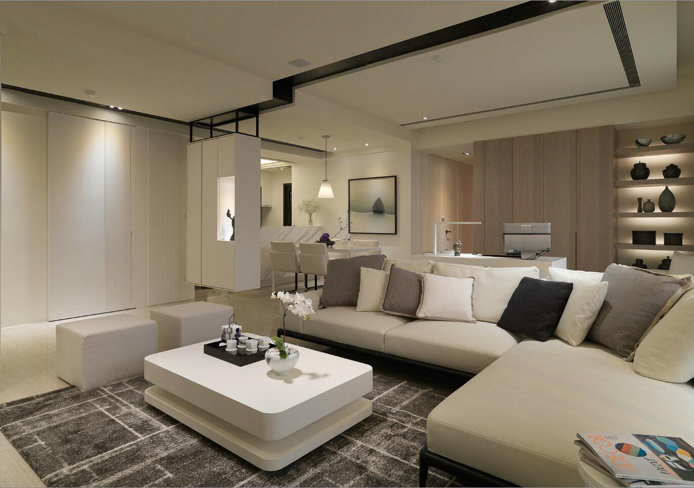 現代客廳隔斷實景圖