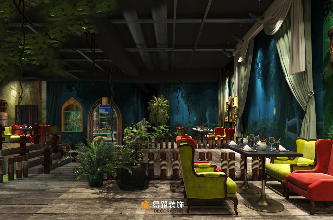 魔法森林主题餐厅800平米装修效果图_孙睿设计作品图片