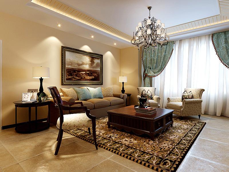 185平地中海风格家装案例图客厅