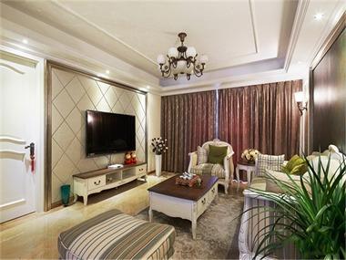 103平欧式风格装修效果图客厅