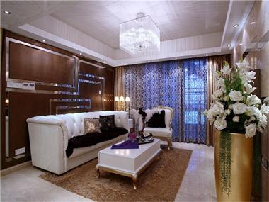 63平欧式风格装修效果图客厅