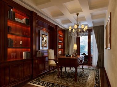 114平美式风格装修效果图书房