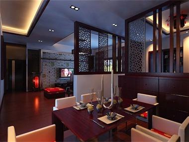中式餐厅隔断效果图