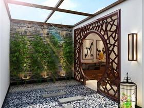 中式庭院吊顶效果图