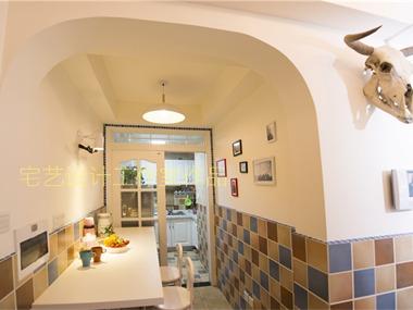 地中海餐厅照片墙效果图