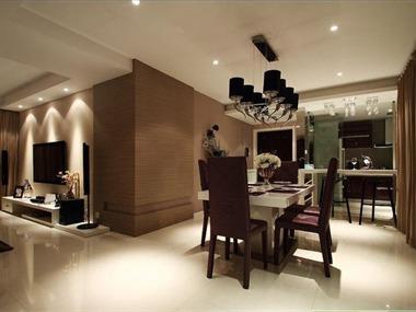 低调奢华的现代简约温暖舒适餐厅