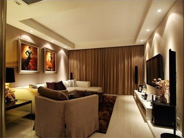 低调奢华的现代简约温暖舒适客厅