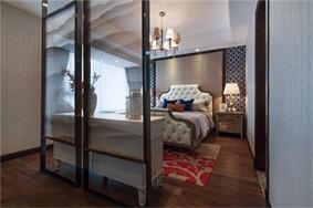 美式卧室隔断实景图
