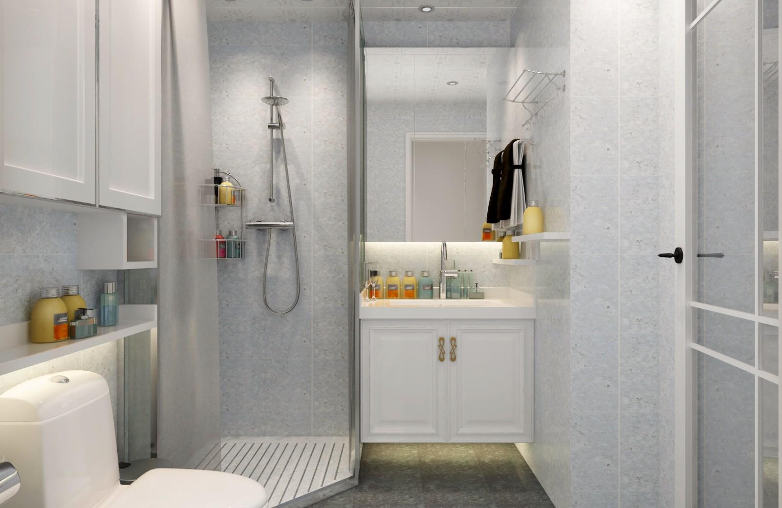 简约卫生间背景墙效果图