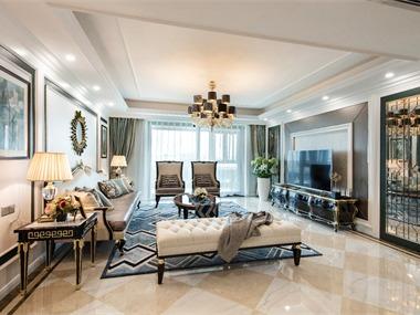 美式客廳吊頂實景圖