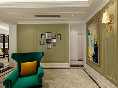 美式客廳照片墻效果圖
