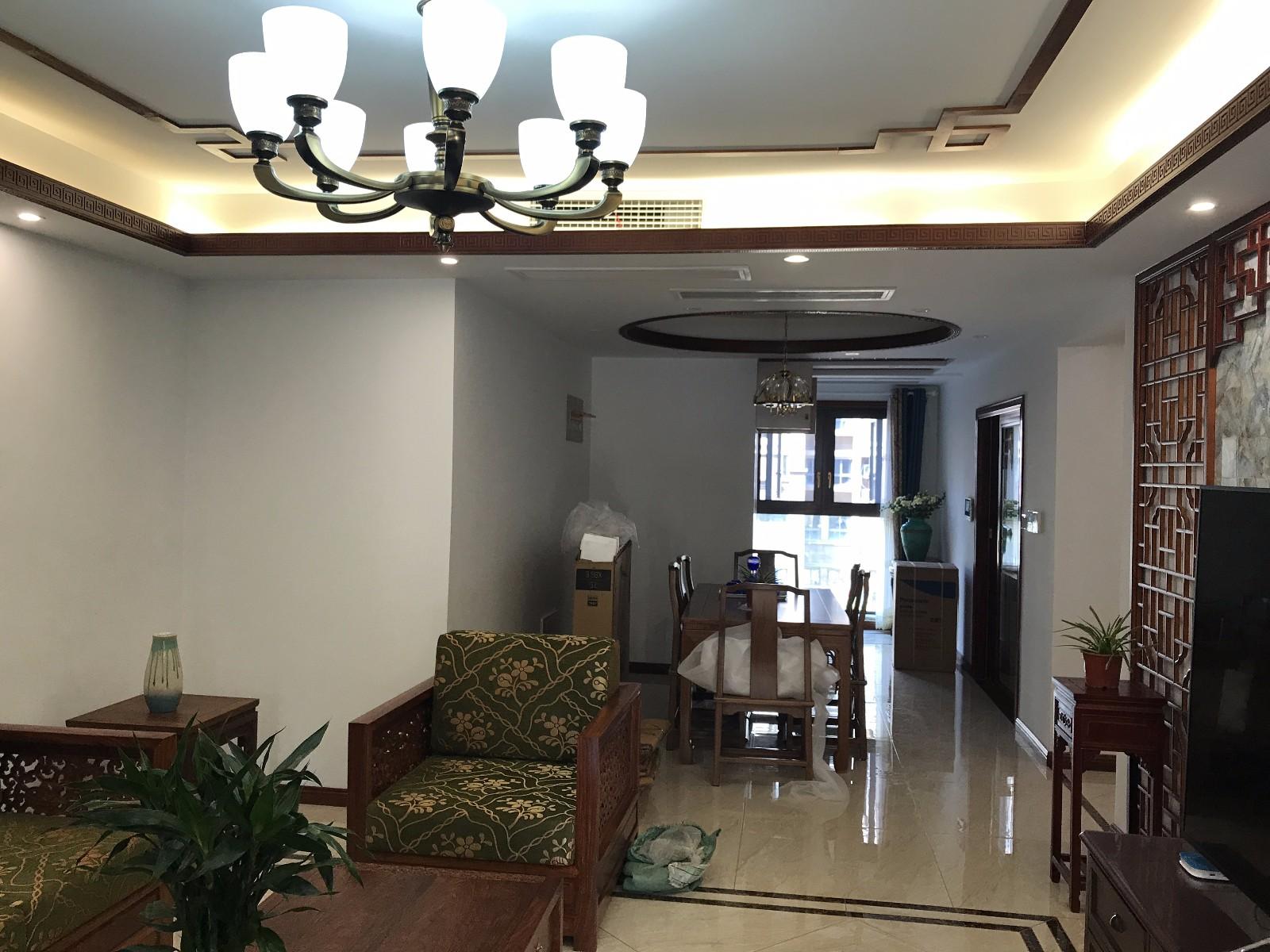 中式客厅吊顶实景图图片