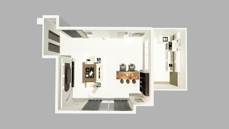 现代主义客厅设计平面图
