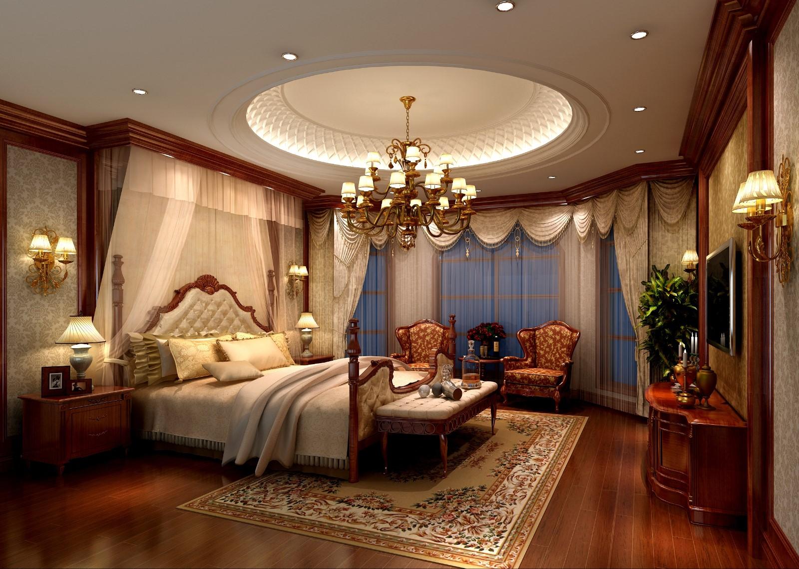 美式卧室吊顶效果图