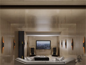 现代视听室吊顶效果图