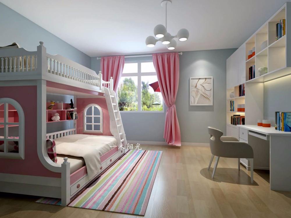 现代儿童房吊顶效果图