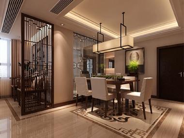 新中式餐廳吊頂效果圖