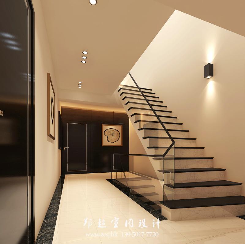 现代楼梯过道效果图