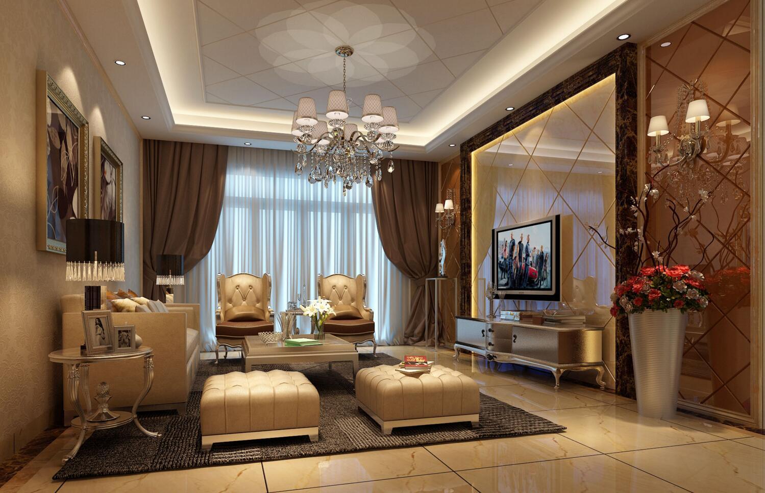 远洋城荣域116平米三居室装修效果图_陈东冲设计作品