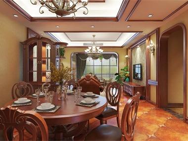 美式餐厅背景墙效果图
