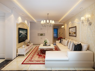 混搭客厅沙发背景墙效果图
