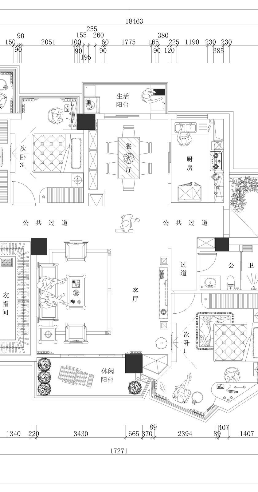 中式家装平面布置图