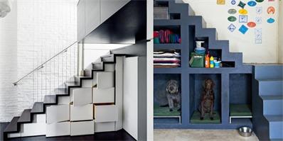 复式格局巧用楼梯做收纳 超大容量让你不再为储物发愁
