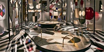 在米兰的宫殿,jaime hayon为caesarstone公司制作了变幻多端的展厅