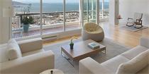 坐拥壮观旧金山湾景色的简约公寓