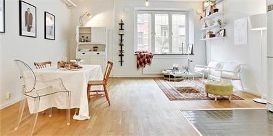 瑞典42平米简约单身公寓