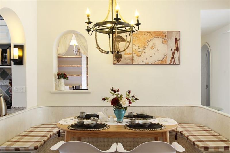 地中海餐厅背景墙效果图
