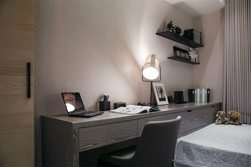 日式卧室工作区效果图