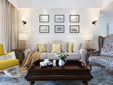 简约客厅沙发背景墙效果图