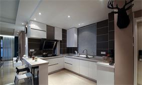 简约厨房橱柜实景图