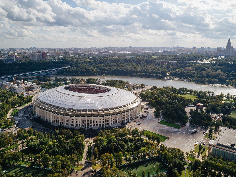 俄罗斯卢日尼基球场改造,全新的2018世界杯总决赛场馆