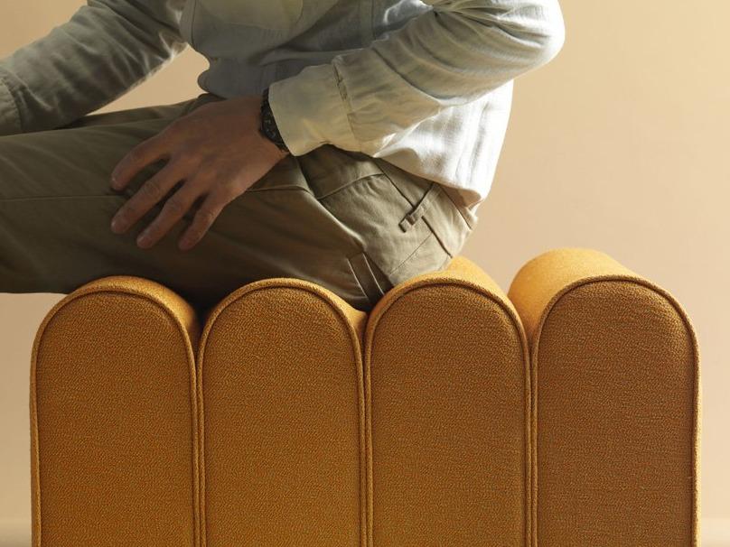 note design studio系列坐垫椅 看到动感弧度的节奏