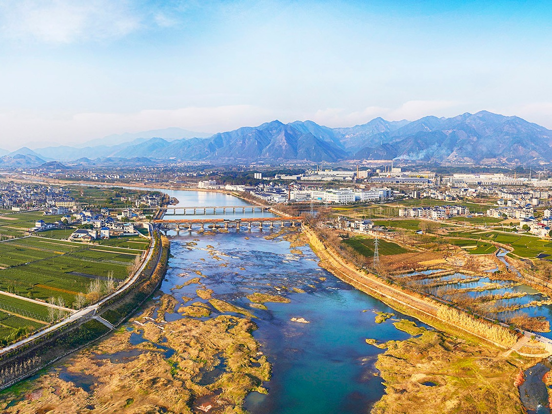 浙江石门廊桥,穿点连线,建构区域独特的自然人文景观