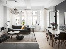 83平米北欧简约公寓 舒适宁静的两居住宅