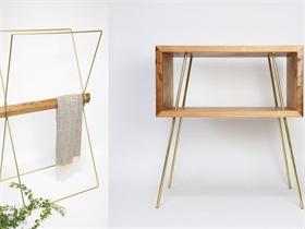 新型金木組裝家具,主張回歸材料本身
