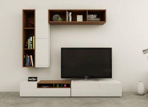 【佰特装饰】电视组合柜图片大全 客厅电视柜要怎么搭配