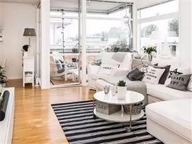 黑白搭配北欧风格公寓装修效果图