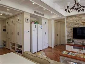 好休闲的112㎡简美风,客餐厅用矮柜隔断,一物两用,真心棒!
