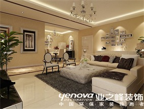 现代客厅照片墙效果图