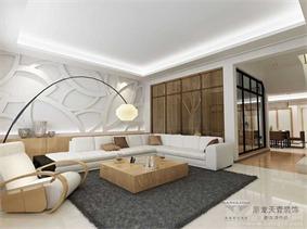 现代客厅背景墙效果图